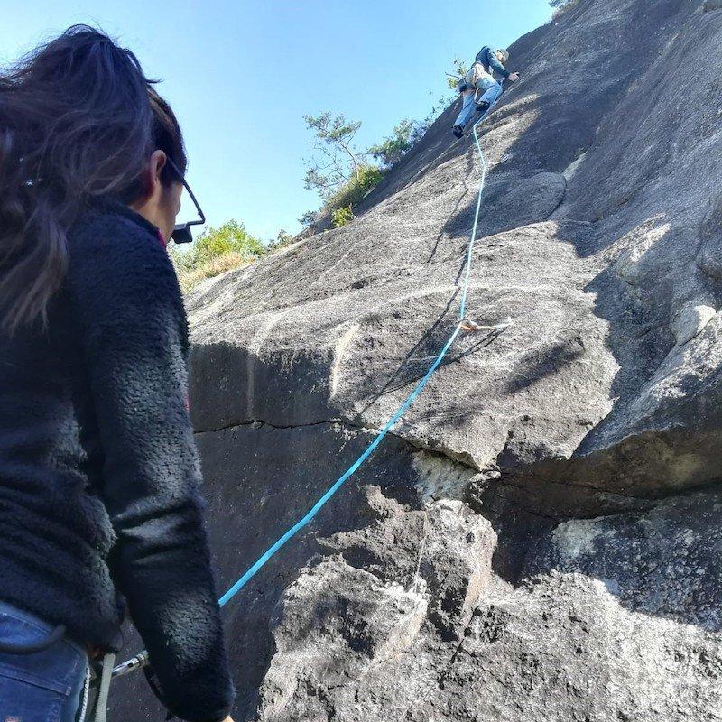 La corda da arrampicata in falesia