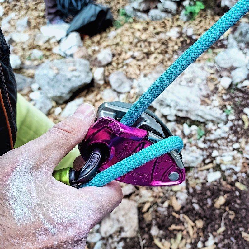Scorrimento della corda nel freno