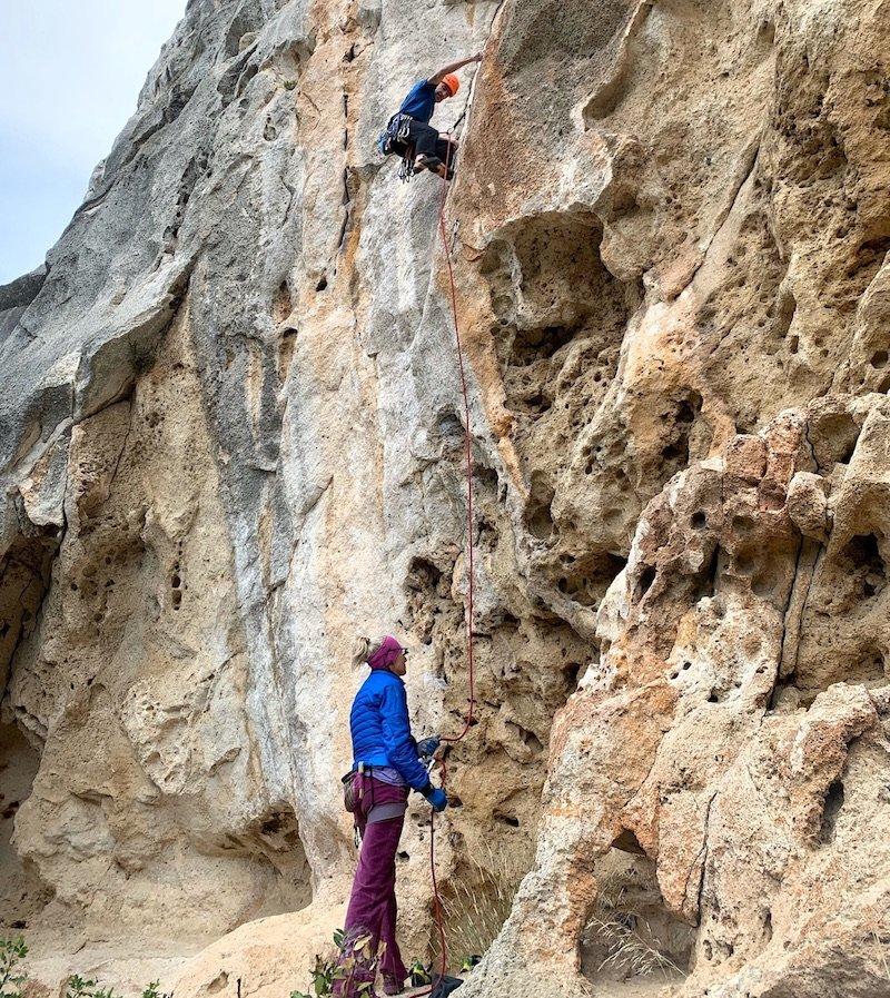 arrampicata in falesia su monotiri