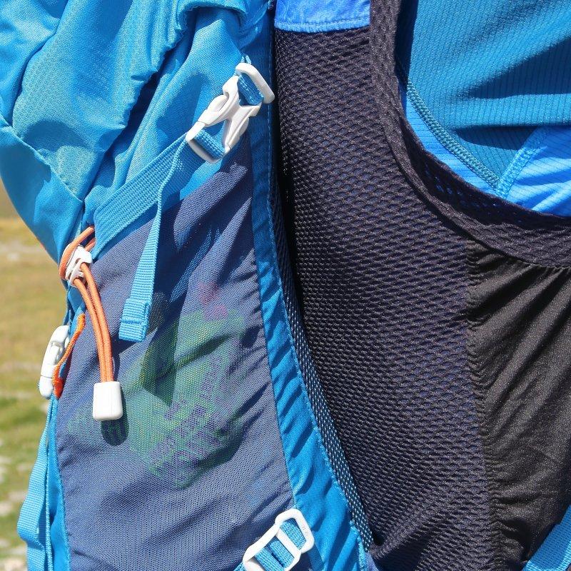 il tessuto traspirante sulla schiena