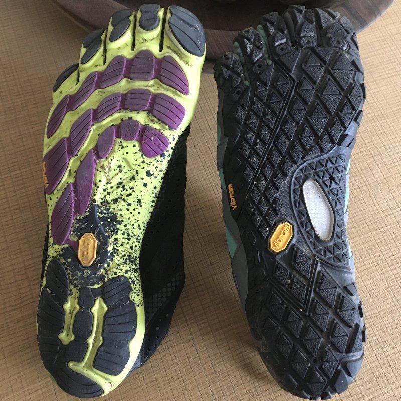 confronto tra FiveFingers V-Trail con V-Run