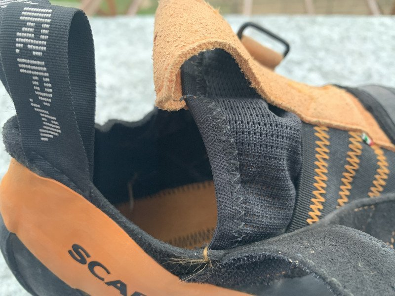 Un dettaglio della scarpetta