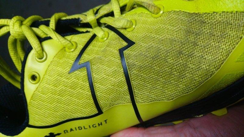 La tomaia della scarpa da trail running