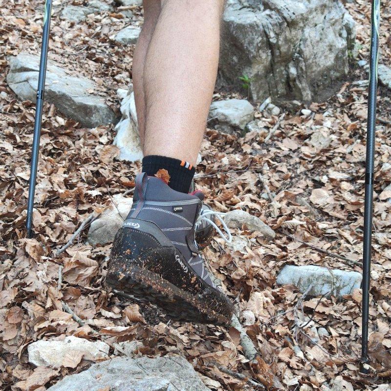 Gli scarponi durante un'escursione