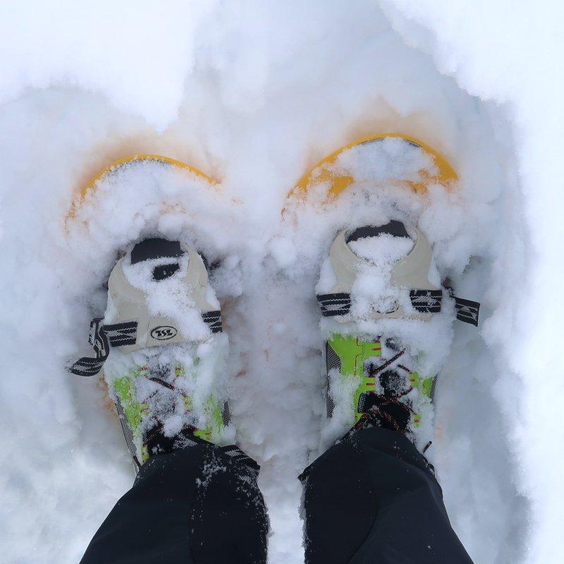 scarponi Garmont utilizzati durante escursioni con ciaspole