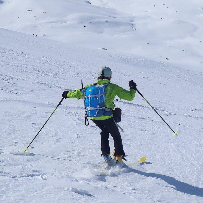 lo zaino da scialpinismo Marsupio in azione