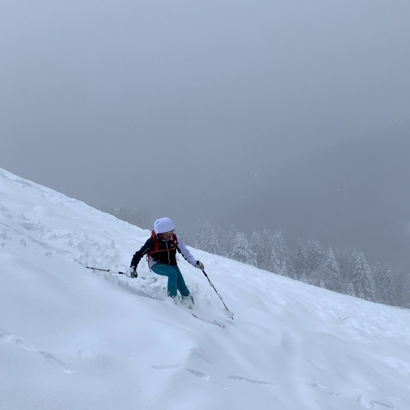 marmolada jacket sulla neve