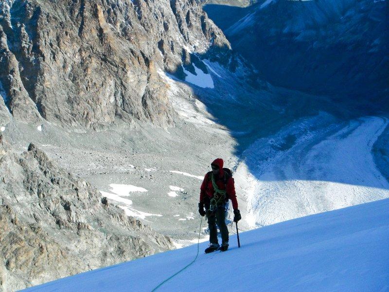 materiali per la giusta attrezzatura per alpinismo su ghiaccio e in alta quota