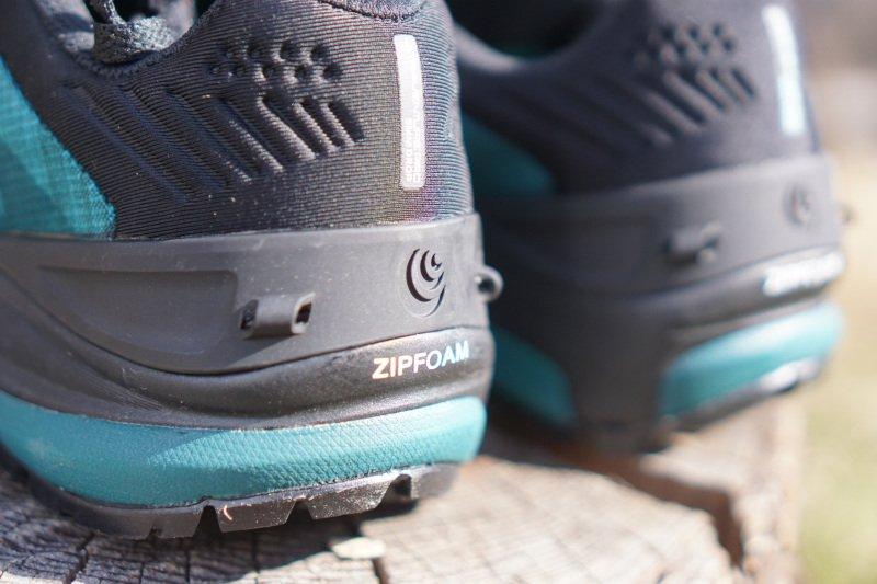 il tallone della scarpa da trail running