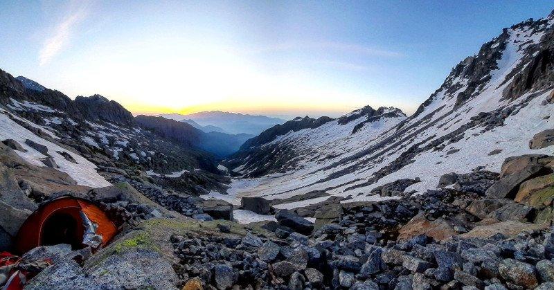 tenda per la montagna