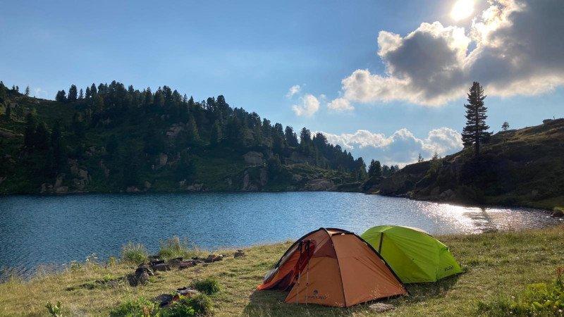 tenda tre stagioni in tiva al lago