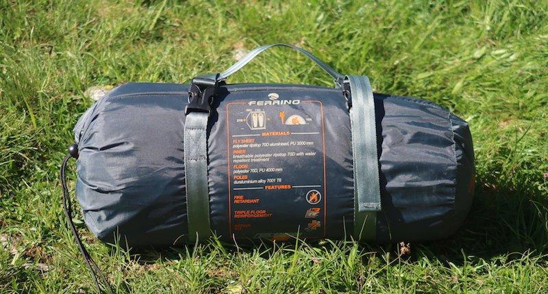 sacca di trasporto con cinghie di compressione