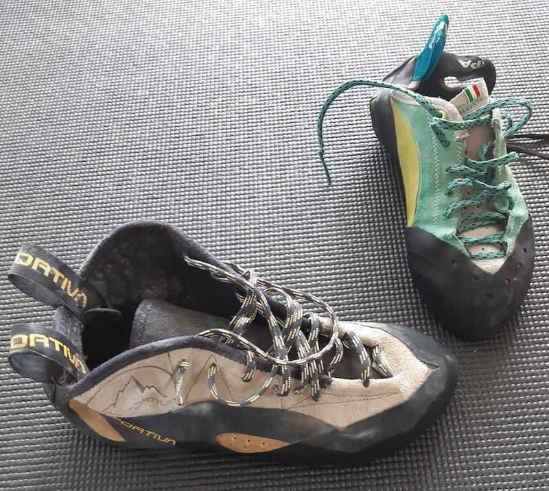 scarpette da arrampicata per vie lunghe