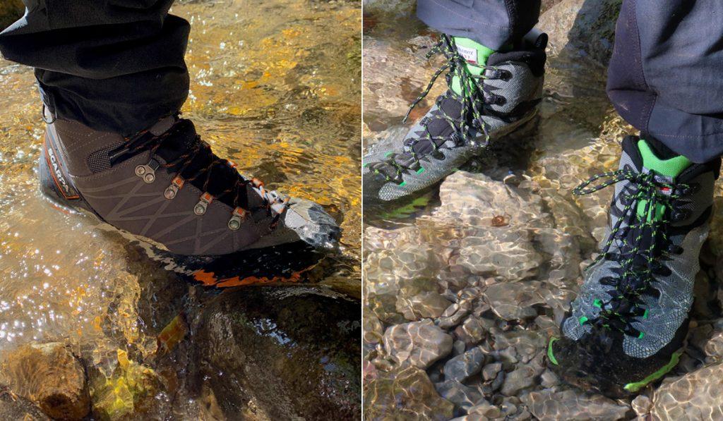 Scarpe da montagna impermeabili: HDry e Gore-Tex