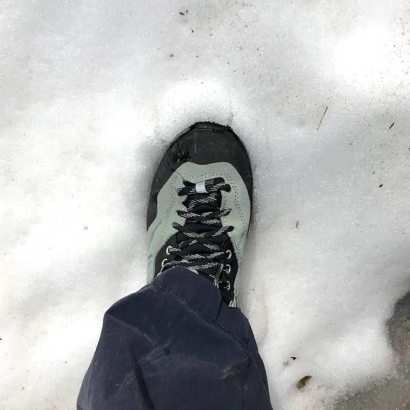 test delle scarpe Kayland su neve