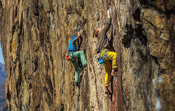 scegliere la corda da arrampicata in falesia