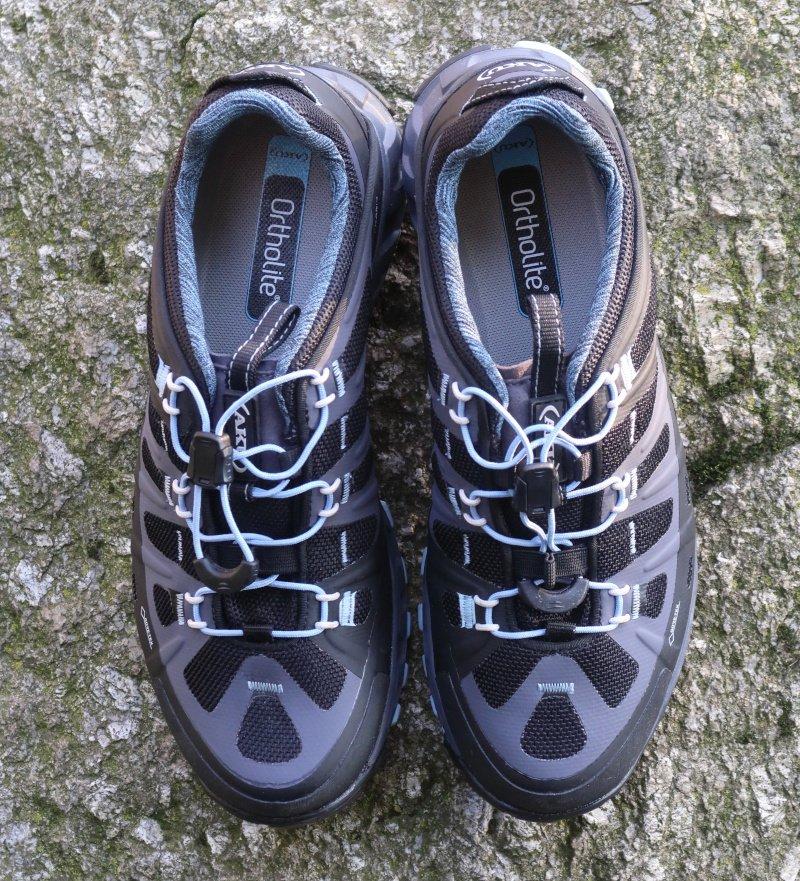 sistema di allacciatura rapida delle scarpe da avvicinamento