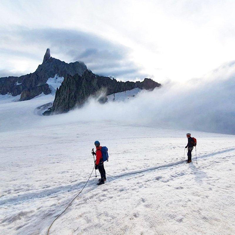 scegliere la corda da ghiacciaio