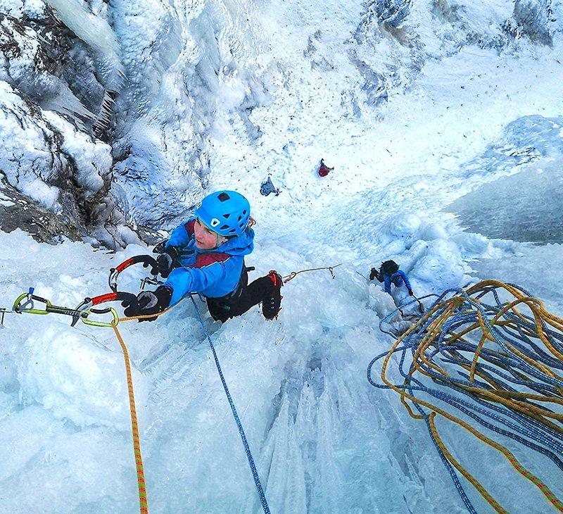 scegliere la corda per cascate di ghiaccio